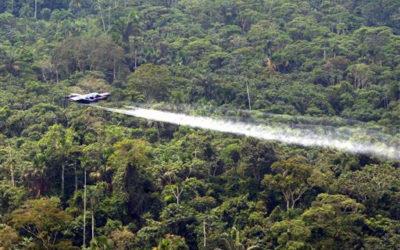 25 Organizaciones Piden Terminar el Apoyo Estadounidense a las Fumigaciones Aéreas