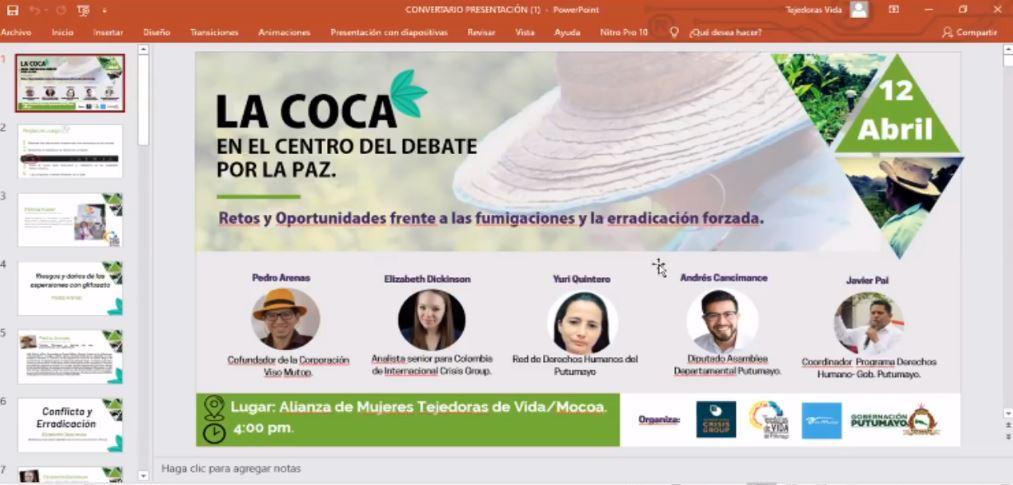"""CONVERSATORIO """"La Coca en el centro del debate por la PAZ"""""""